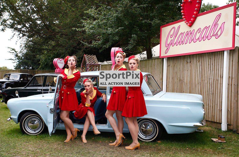 GOODWOOD REVIVAL.....The Glamcab girls entertain the crowds at The Goodwood Revival ..(c) STEPHEN LAWSON | SportPix.org.uk