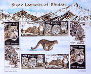 Snow leopards of Bhutan, postage stamps from Bhutan