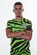 Forest Green Rovers Taylor Allen(12) during the official team photocall for Forest Green Rovers at the New Lawn, Forest Green, United Kingdom on 29 July 2019.