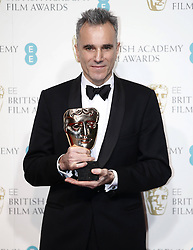 Best Actor winner Daniel Day Lewis poses in the Press Room of the BAFTA British Academy Film Awards 2013 at the Royal Opera House in London, Britain, Sunday February 10, 2013. Photo by Imago / i-Images. UK ONLY..