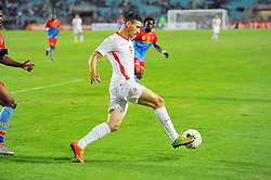 September 1, 2017 - Tunis, Tunisia - Youhan Touzgar(9) of Tunisia  during the qualifying match for the World Cup Russia 2018 between Tunisia and the Democratic Republic of Congo (RD Congo) at the Rades stadium in Tunis. (Credit Image: © Chokri Mahjoub via ZUMA Wire)