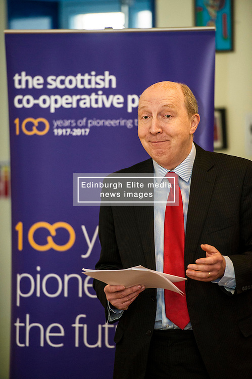 Pictured: Andrew Burns<br /> Scottish Labour deputy leader Alex Rowley was joined by Edinburgh City Council leader Andrew Burns at the Serenity Cafe in Edinburgh today to launch the party's local government election manifesto. <br /> Ger Harley   EEm 21 March 2017