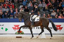 Brouwer Kirsten, NED, Hummer<br /> KWPN Stallionshow - 's Hertogenbosch 2018<br /> © Hippo Foto - Dirk Caremans<br /> 02/02/2018