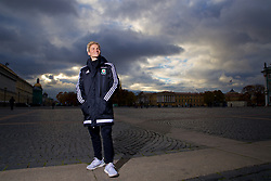 SAINT PETERSBURG, RUSSIA - Monday, October 23, 2017: Wales' Jessica Fishlock poses for a portrait in Palace Square outside the Winter Palace ahead of the FIFA Women's World Cup 2019 Qualifying Group 1 match between Russia and Wales. (Pic by David Rawcliffe/Propaganda)
