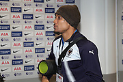 AFC Wimbledon defender Darius Charles (32) arriving during the The FA Cup 3rd round match between Tottenham Hotspur and AFC Wimbledon at Wembley Stadium, London, England on 7 January 2018. Photo by Matthew Redman.