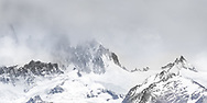The famous Fitz Roy Massif in Argentina remains hidden in clouds, allowing Cerro Electrico (peak on far right) to get some attention.