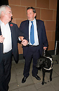 28.OCTOBER.2009 - LONDON<br /> <br /> POLITICIAN DAVID BLUNKETT LEAVING CIPRIANI'S RESTAURANT, MAYFAIR WITH HIS GUIDE DOG.<br /> <br /> BYLINE: EDBIMAGEARCHIVE.COM<br /> <br /> *THIS IMAGE IS STRICTLY FOR UK NEWSPAPERS &amp; MAGAZINES ONLY*<br /> *FOR WORLDWIDE SALES &amp; WEB USE PLEASE CONTACT EDBIMAGEARCHIVE-0208 954 5968*