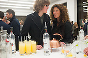 EDWIN TROCME;  AMANDA MANN, Editor of Wallpaper: Tony Chambers and architect Annabelle Selldorf host drinks to celebrate the collaboration between the architect and three of Savile Row's finest: Hardy Amies, Spencer hart and Richard James. Hauser and Wirth Gallery. ( Current show Isa Genzken. ) savile Row. London. 9 January 2012.