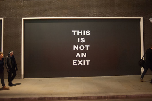 This is not an Exit. Mat Collishaw. Blain Southern. Hanover Sq. London. 13 February 2013.