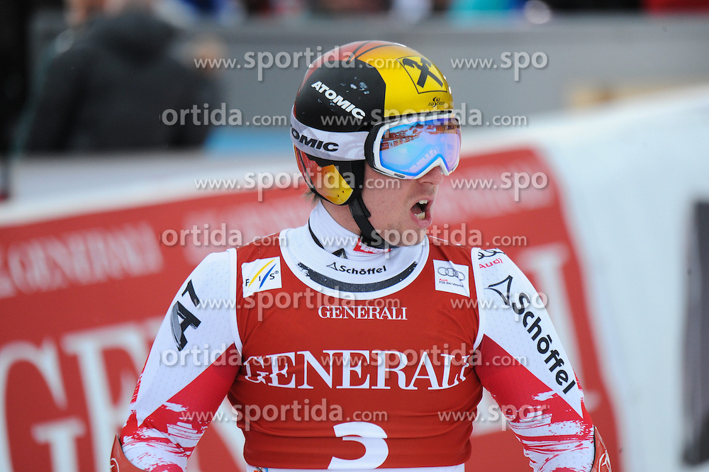 23.01.2015, Streif, Kitzbuehel, AUT, FIS Ski Weltcup, Supercombi Super G, Herren, im Bild Marcel Hirscher (AUT) // Marcel Hirscher of Austria reacts after his run of the men's Super Combined Super-G of Kitzbuehel FIS Ski Alpine World Cup at the Streif Course in Kitzbuehel, Austria on 2015/01/23. EXPA Pictures © 2015, PhotoCredit: EXPA/ Erich Spiess