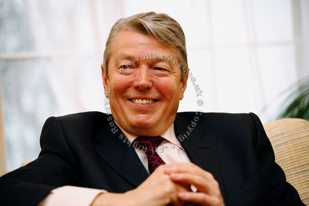 Alan Johnson, the UK Minister of Health, is being interviewed in his office in Whitehall, London, England, on Thursday, Jan. 17, 2008. ** Italy Out **