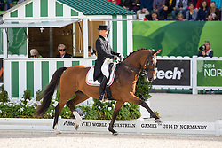 Lars Petersen, (DEN), Mariett - Grand Prix Special Dressage - Alltech FEI World Equestrian Games™ 2014 - Normandy, France.<br /> © Hippo Foto Team - Leanjo de Koster<br /> 25/06/14