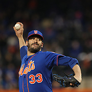 Pitcher Matt Harvey, New York Mets, pitching during the New York Mets Vs Washington Nationals MLB regular season baseball game at Citi Field, Queens, New York. USA. 1st May 2015. Photo Tim Clayton