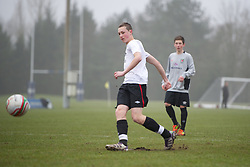 CARDIFF, WALES - Thursday, March 15, 2012: Wales U16's Elijah Phipps (Cardiff City FC & Mountain Ash Comprehensive) during a training session at the Glamorgan Sports Park. (Pic by David Rawcliffe/Propaganda)
