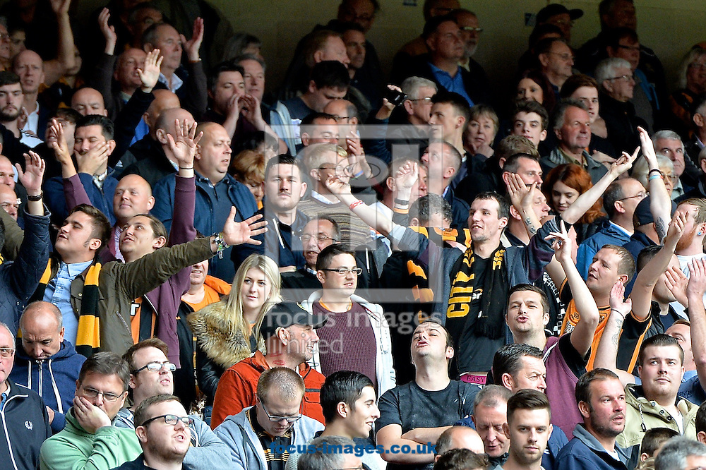 Hull City fans during the Sky Bet Championship match at the City Ground, Nottingham<br /> Picture by Ian Wadkins/Focus Images Ltd +44 7877 568959<br /> 03/10/2015