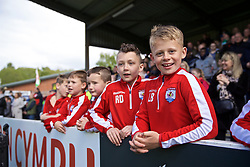 RHOSYMEDRE, WALES - Sunday, May 5, 2019: Young Connah's Quay Nomads supporters before the FAW JD Welsh Cup Final between Connah's Quay Nomads FC and The New Saints FC at The Rock. (Pic by David Rawcliffe/Propaganda)