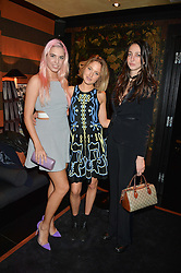 Left to right, AMBER LE BON, TESS WARD and TISH WEINSTOCK at a private dinner for designer Ethan K held at Blakes Hotel, 33 Roland Gardens, London on 26th October 2016.