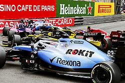 May 26, 2019 - Monte Carlo, Monaco - Motorsports: FIA Formula One World Championship 2019, Grand Prix of Monaco, ..Collision, #88 Robert Kubica (POL, ROKiT Williams Racing), #99 Antonio Giovinazzi (ITA, Alfa Romeo Racing), #11 Sergio Perez (MEX, Racing Point F1 Team), #27 Nico Hulkenberg (GER, Renault F1 Team), #63 George Russell (GBR, ROKiT Williams Racing) (Credit Image: © Hoch Zwei via ZUMA Wire)