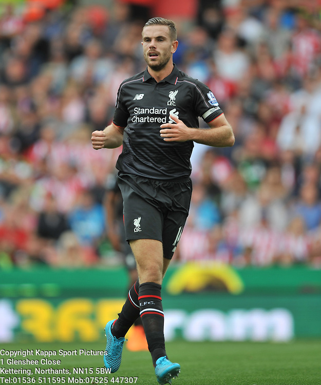 JORDAN HENDERSON LIVERPOOL, Liverpool FC, Stoke City v Liverpool, Premiership, Britannia Stadium Sunday 9th August 2015Stoke City v Liverpool, Premiership, Britannia Stadium Sunday 9th August 2015