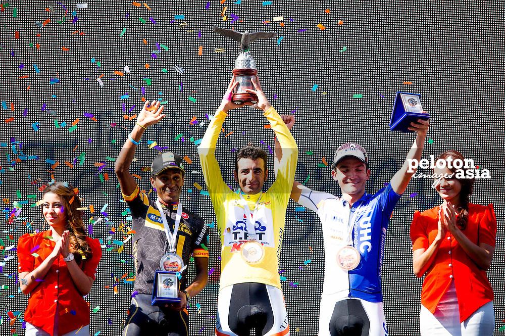 2014 Le Tour de Langkawi / stage10 / langkawi / POURSEYEDIGOLAKHOUR Mirsama (IRI) / TABRIZ PETROCHEMICAL TEAM / KUDUS GHEBREMEDHIN Merhawi (ERI) / MTN - QHUBEKA / Bolivar Isaac (COL) / UnitedHealthcare Pro Cycling