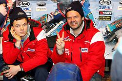 13.03.2016, Assen, BEL, FIM Eisspeedway Gladiators, Assen, im Bild Luca Bauer (GER), Guenter Bauer (GER) // during the Astana Expo FIM Ice Speedway Gladiators World Championship in Assen, Belgium on 2016/03/13. EXPA Pictures &copy; 2016, PhotoCredit: EXPA/ Eibner-Pressefoto/ Stiefel<br /> <br /> *****ATTENTION - OUT of GER*****