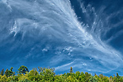 CLouds over Lake Superior forest<br />Lake Superior Provincial Park<br />Ontario<br />Canada