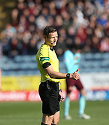 30th September 2017, Dens Park, Dundee, Scotland; Scottish Premier League football, Dundee versus Hearts; Referee Steven McLean