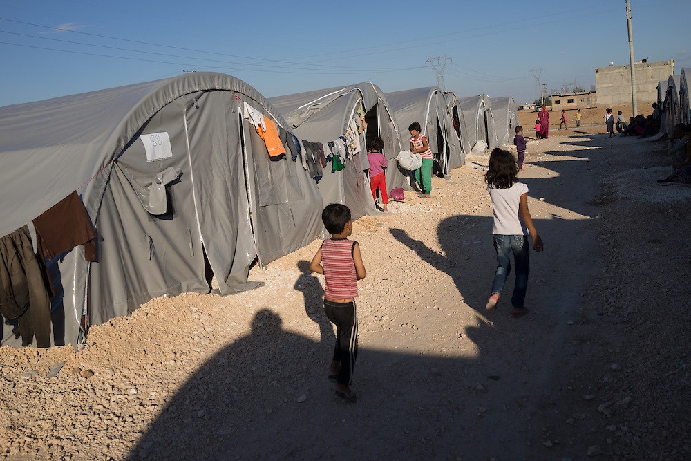 refugee camp in suruc