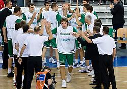 Matjaz Smodis (8) of Slovenia during the EuroBasket 2009 Group F match between Slovenia and Turkey, on September 16, 2009 in Arena Lodz, Hala Sportowa, Lodz, Poland.  (Photo by Vid Ponikvar / Sportida)