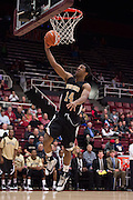 November 14, 2014; Stanford, CA, USA; Wofford Terriers guard Spencer Collins (14) shoots a layup against the Stanford Cardinal during the second half at Maples Pavilion.