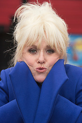 © Licensed to London News Pictures. 21/11/2013. London, England. Pic: Barbara Windsor feeling the cold air. Barbara Windsor has joined Theatre Royal Stratford East's fundraising campaign to build a sculpture for the legendary director Joan Littlewood with whom she worked during the early stages of her career. The theatre launches a public appeal to raise the final 40% needed (c. £60,000) to commission Philip Jackson to created the bronze sculpture which is due to be installed in Theatre Square, Stratford in spring 2014. Photo credit: Bettina Strenske/LNP