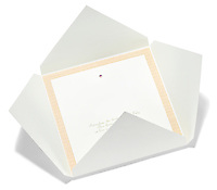 white paper envelope invitation