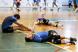 Klemen Hribar of Calcit Volley during volleyball match between Calcit Volley and Salonit Anhovo in Semifinal of Slovenian League 2017/18, on April 14, 2018 in Sportna Dvorana, Kamnik, Slovenia. Slovenia. Photo by Matic Klansek Velej / Sportida