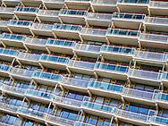 Flatgebouw met balkons  - Flatbuilding with balconies