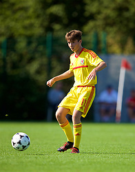 NEWPORT, WALES - Wednesday, July 25, 2018: Lewis Cousins during the Welsh Football Trust Cymru Cup 2018 at Dragon Park. (Pic by Paul Greenwood/Propaganda)