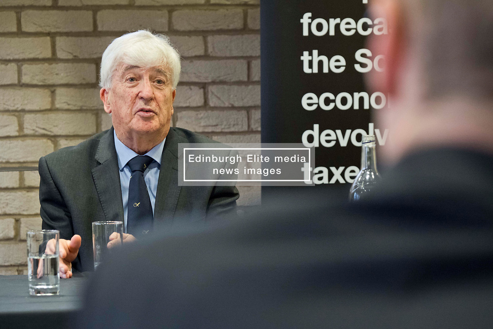Pictured: Professor David Ulph<br /> <br /> The Scottish Fiscal Commission team, led by Dame Susan Rice, met journalists today and gave a short presentation on their five-year economic forecasts following the Scottish budget announcement.<br /> <br /> Ger Harley | EEm 13 December 2018