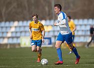 FODBOLD: Dennis Kryger (Humlebæk) under kampen i Serie 2 mellem Ølstykke FC og Humlebæk Boldklub den 6. april 2019 på Ølstykke Stadion. Foto: Claus Birch.