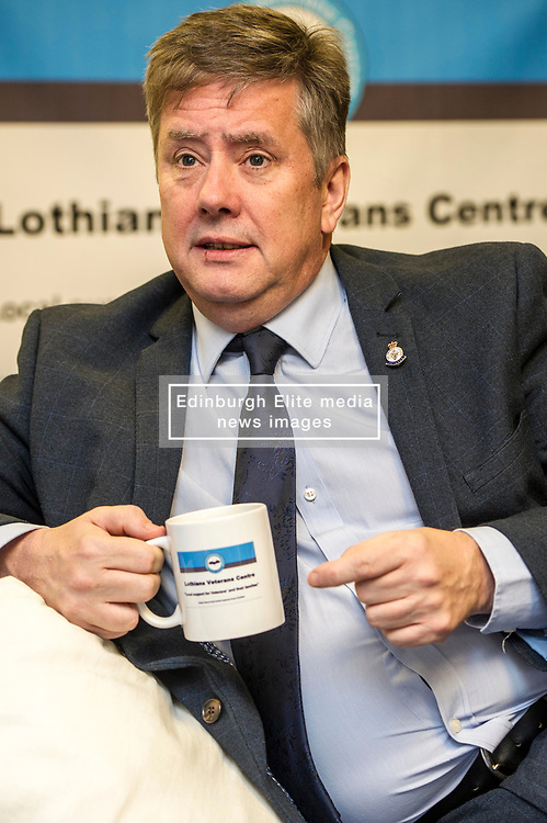 EMBARGOED UNTIL 00:01 2 APRIL 2017<br /> <br /> Pictured: Keith Brown, MSP<br /> During his visit to the Lothians Veteran Centre in Dalkeith on Friday 31 March, Veterans Secretary Keith Brown  announced the successful applicants to the 2017 Scottish Veterans Fund.<br /> The Lothians Veteran Centre provides a person-centred support service for ex-service personnel and their families across Lothians, including projects relating to housing, benefits & welfare, and employment, education and training support.<br /> <br /> Ger Harley | EEm 31 March 2017
