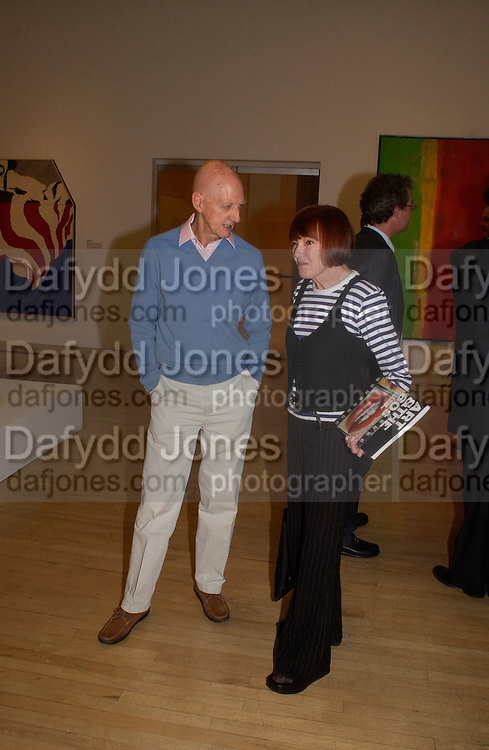 Allen Jones and Mary Quant, Art and the 60s: This was Tomorrow, Tate,29 June 2004. SUPPLIED FOR ONE-TIME USE ONLY-DO NOT ARCHIVE. © Copyright Photograph by Dafydd Jones 66 Stockwell Park Rd. London SW9 0DA Tel 020 7733 0108 www.dafjones.com