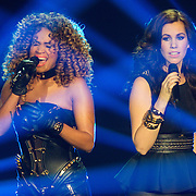 NLD/Hilversum/20131220 - Finale The Voice of Holland 2013, Sharon Doorson en Gerrie Dantuma