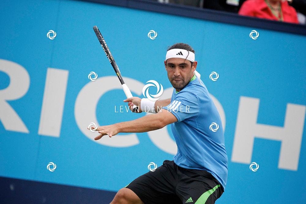 ROSMALEN - Op de Unicef Open is dit de wedstrijd tussen Marcos Baghdatis en Robin Haase.  Met op de foto tennisser Marcos Baghdatis. FOTO LEVIN DEN BOER - PERSFOTO.NU