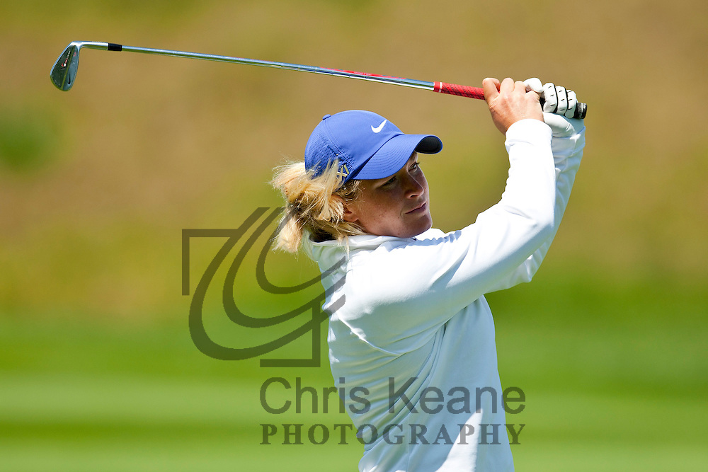 17 May 2012: Suzann Pettersen watches her second shot on the 15th hole during the first round of match play at the Sybase Match Play Championship at Hamilton Farm Golf Club in Gladstone, New Jersey on May 17, 2012.
