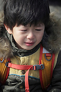 Asian child crying