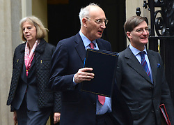 © Licensed to London News Pictures. 23/10/2012. Westminster, UK (L_R) Home Secretary Theresa May, Chief Whip Sir George Young, Attorney General Dominic Grieve.  Ministers attend a Cabinet Meeting in 10 Downing Street today 23 October 2012. Photo credit : Stephen Simpson/LNP