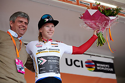 Lorena Wiebes (NED) secures the best young rider jersey at Boels Ladies Tour 2019 - Stage 5, a 154.8 km road race from Nijmegen to Arnhem, Netherlands on September 8, 2019. Photo by Sean Robinson/velofocus.com