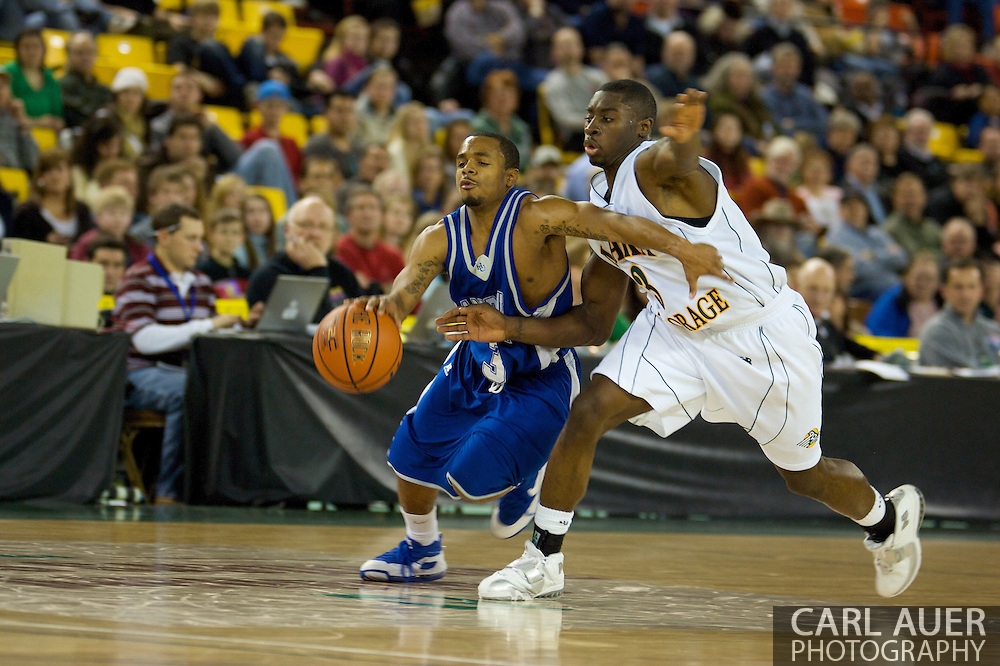 November 26, 2008: Hampton guard Rashad West (3) in the opening game of the 2008 Great Alaska Shootout at the Sullivan Arena against the University of Alaska-Anchorage Seawolves.