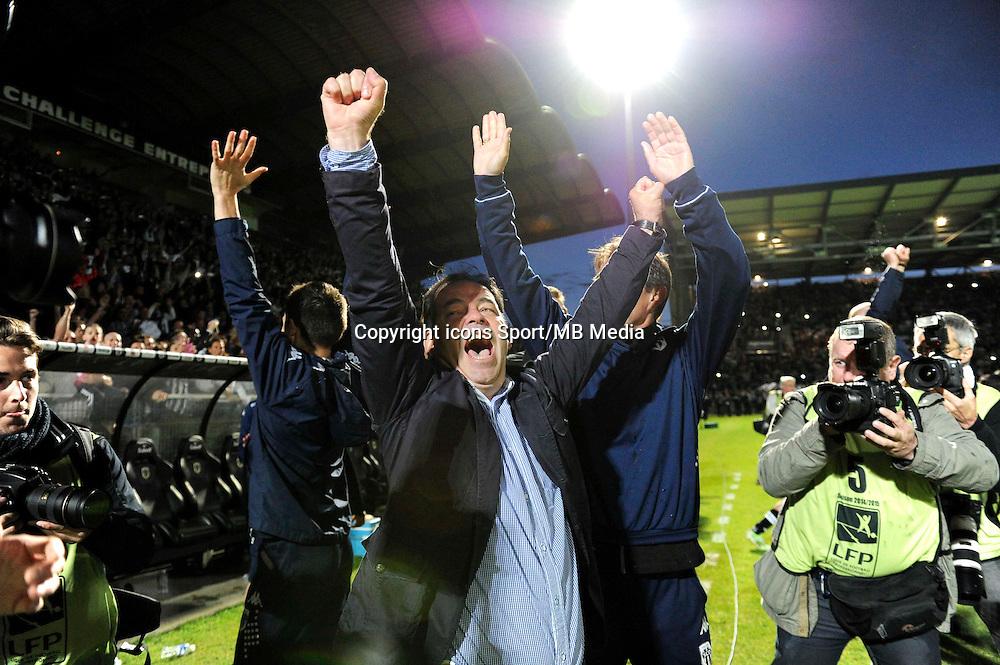 Joie Angers - Stephane MOULIN - Joie Angers - Serge LE DIZET - Accession en L1 - 22.05.2015 - Angers / Nimes - 38eme journee Ligue 2<br />Photo : Nolwenn Le Gouic / Icon Sport