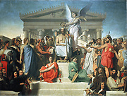 The Apotheosis of Homer' 1827:  Jean Auguste Dominique Ingres (1780-1867) French classical painter.