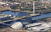 aerial photograph of the Clyde Auditorium   Glasgow Scotland