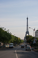 Eiffel Tower in Paris France in Spring time of May 2008